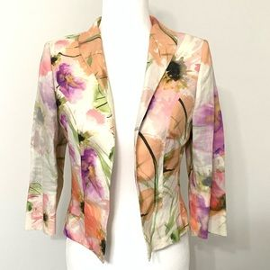 NWT Pauw Amsterdam Floral Open Front Blazer $685